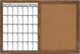 1 Month Calendar Combo Dry Erase Board With Cork